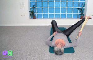 supta padangustasana b  sotai yoga